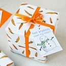 Quirky Christmas Wrapping Paper With Tag