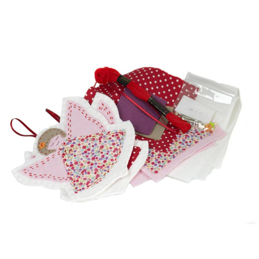 christmas angels sewing kit by clara kids | notonthehighstreet.com