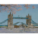 London Tower Bridge Fridge Magnet