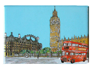 London Parliament Square Fridge Magnet