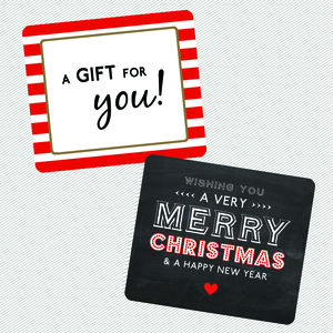 A Gift For You And Merry Christmas Gift Sticker Pack - christmas stickers