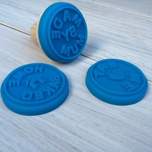 Set Of Four Homemade And Eat Me Cookie Stamps - cookie cutters