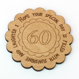 Personalised 60th Birthday Keepsake Coaster - placemats & coasters