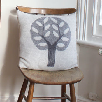 45cm Knitted Lambswool Big Tree Cushion