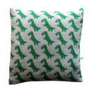 40cm Knitted Lambswool T Rex Dinosaur Cushion