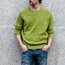 Clunie Classic Crew In Lime