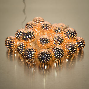Copper Galore LED Light Chain - lighting