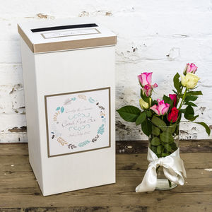 Personalised Jasmine Wedding Post Box