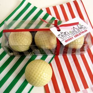 Chocolate Golf Balls Set Of Three In Gift Box
