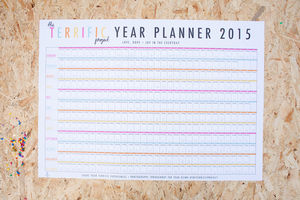 2015 Terrific Project Year Wall Planner