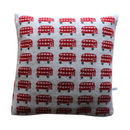40cm Knitted Lambswool London Bus Cushion