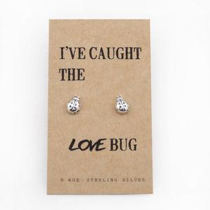 Love Bug Silver Earrings