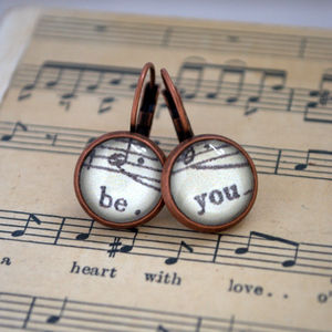 Be You Earrings Words And Music Inspiration - earrings