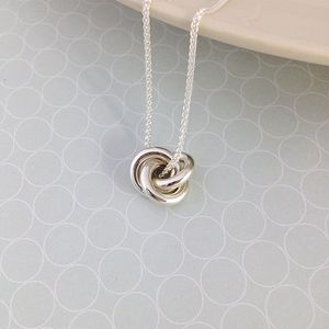 Eternity Solid Silver Large Pendant