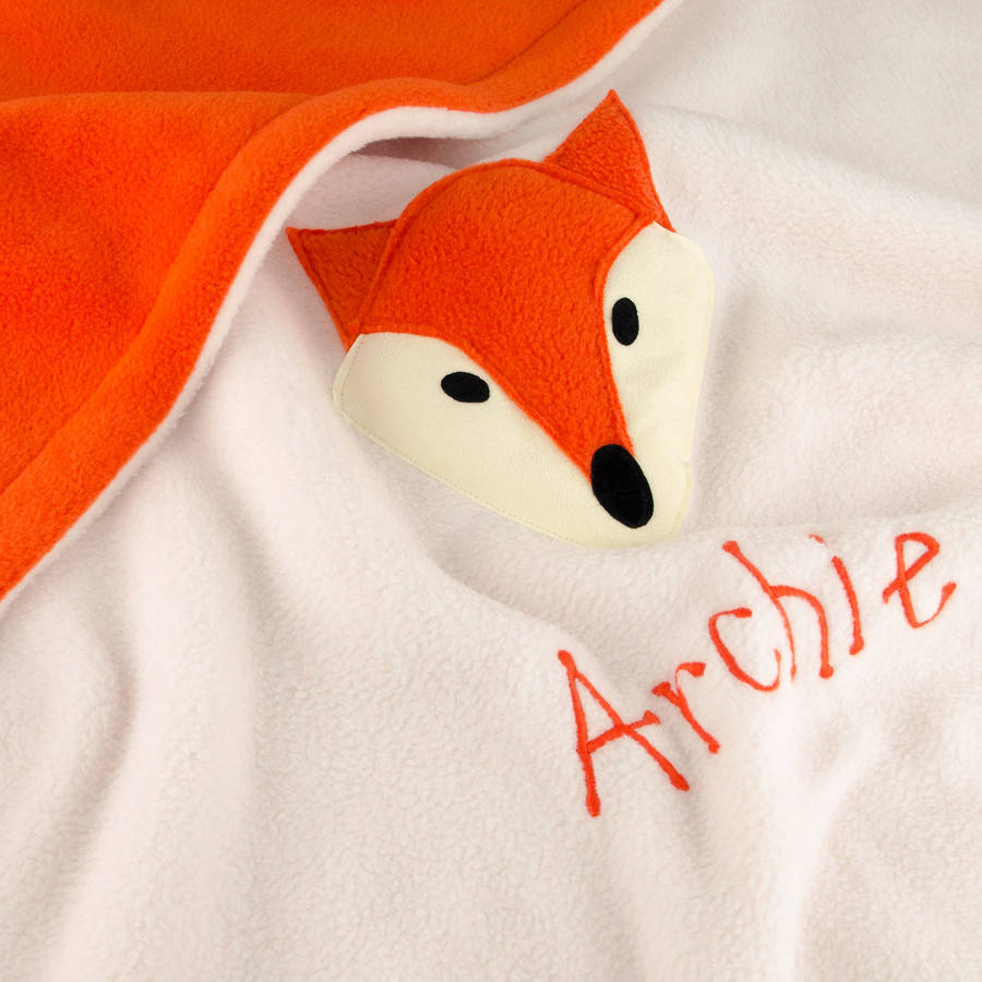 Fox Personalised Baby Blanket