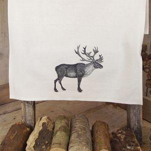' Reindeer ' Linen Tea Towel - christmas parties & entertaining