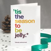 Autocorrect 'Jelly' Funny Christmas Card Single Or Pack - christmas decorations