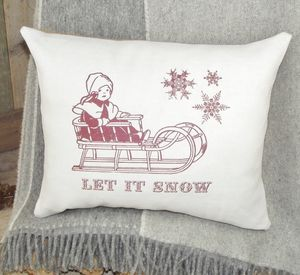 ` Let It Snow ` Christmas Cushion
