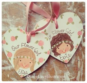 Personalised Bridesmaid/Flower Girl Decoration - wedding thank you gifts