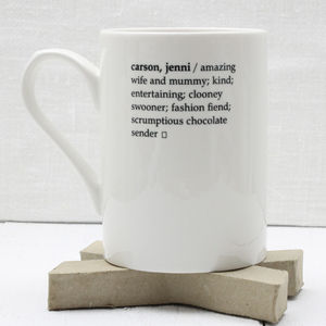 Personalised Dictionary Definition Mug - gifts for her