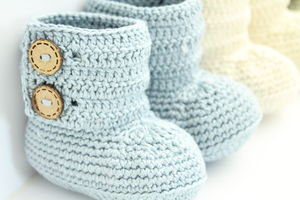 Hand Crochet Baby Boots - shoes & footwear