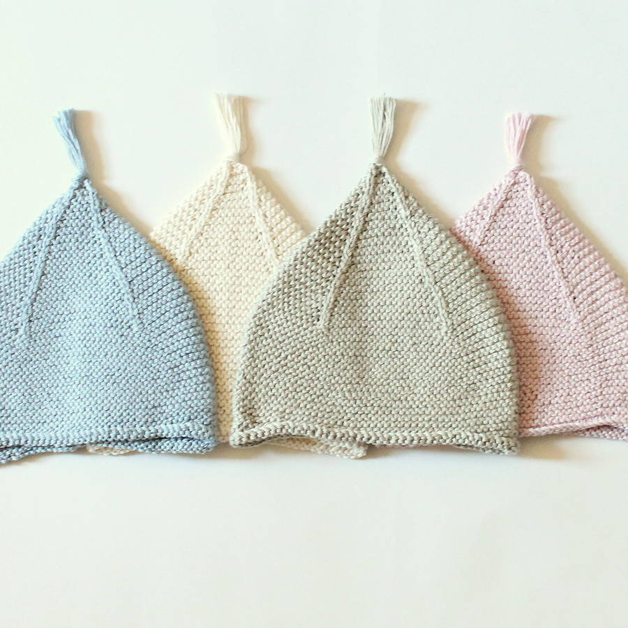 Crochet Tassel Hat Pattern For Baby : hand knitted baby tassel hats by attic ...