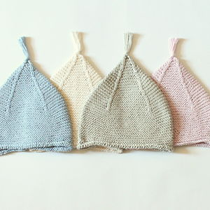 Hand Knitted Baby Tassel Hats