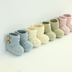 Hand Crochet Baby Boots - children's slippers