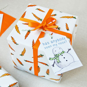 Christmas Carrot Wrapping Paper Set - cards & wrap