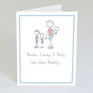 Personalised 'Daddy' Card - father's day cards