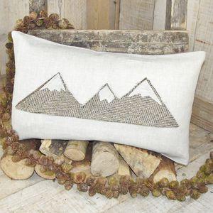 ' Mountain Range ' Cushion - on trend: mountains & contours