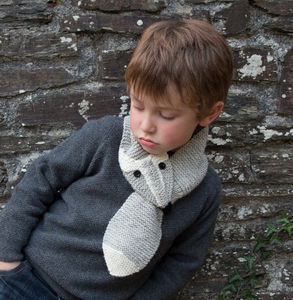 Child's Squirrel Knitted Scarf