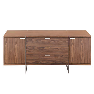 Modern Walnut Finish Sideboard - living room