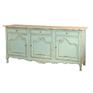 Three Door Cabinet Turquoise - dressers & sideboards