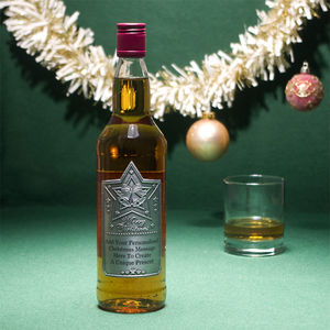 Personalised Christmas Blended Whisky With Pewter Label