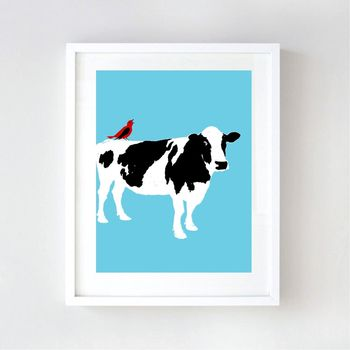 Cow Nursery Art Print