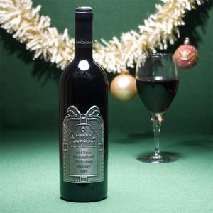 Barolo Personalised Christmas Wine With Pewter Label - food gifts