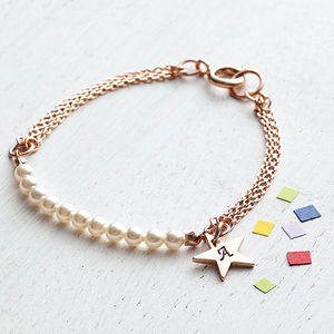 Charm Bracelet With Swarovski Glass Pearls - last-minute christmas gifts for her