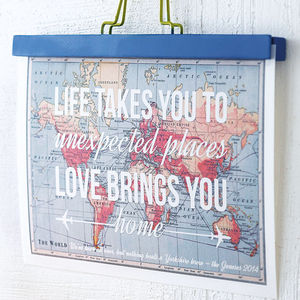 Love Quote Map Print - art & pictures