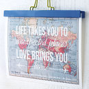 'Life Takes You' Personalised Map Print