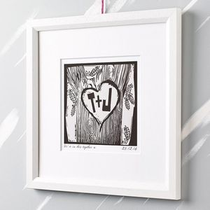 Personalised Woodcut Print - last-minute christmas gifts for her
