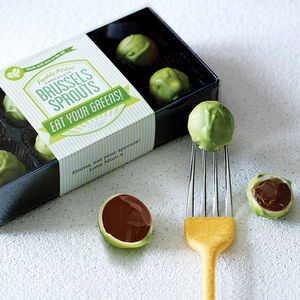 Personalised Chocolate Brussels Sprouts - christmas parties & entertaining