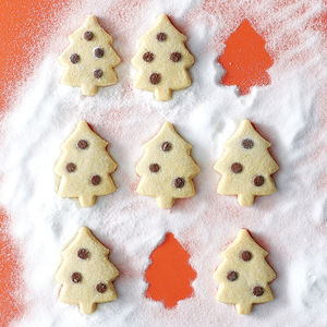 Box Of Christmas Tree Shortbread - edible christmas