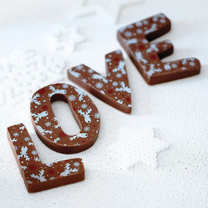 Christmas Patterned Milk Chocolate Letter - christmas parties & entertaining