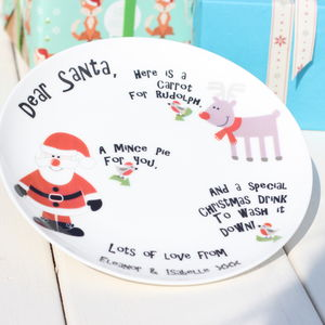 Personalised Santa Plate - crockery & chinaware