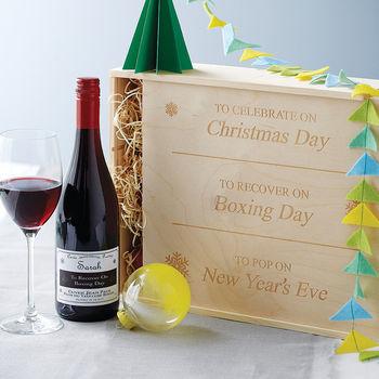 Personalised Christmas Wine Box