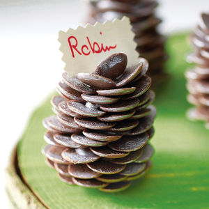 Chocolate Pine Cone - table decorations