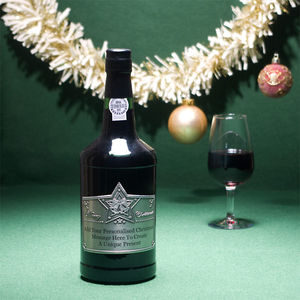 Engraved Special Reserve Xmas Port With Pewter Label