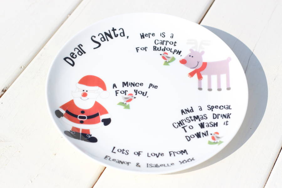 Personalised Santa Plate Christmas Decore