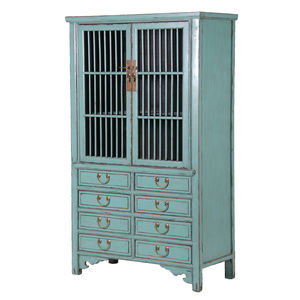 Eight Drawer Distressed Cabinet - cabinets